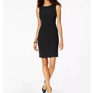 NEW Kasper Crew Neck Sheath Dress Black Size 8